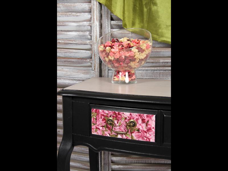 Meuble noir tulipe console bureau bois plateau beton cire 3 l