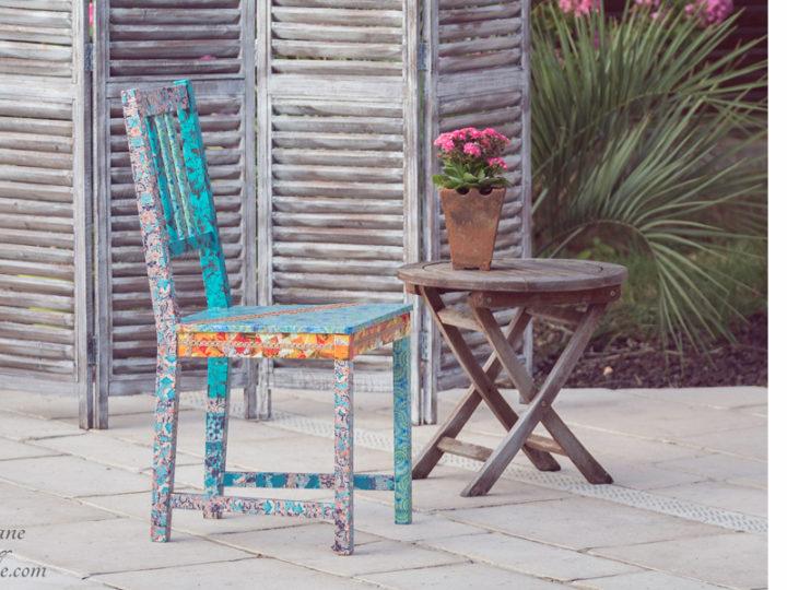 Chaise en bois pour une décoration « Bohème »