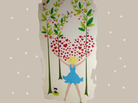 hall-entrée-hopital-enfant-toulouse-purpan-decoration-murale-fleur-maman